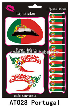 at028 the 2014 world cup in brazil lip sticker eye sticker 12 nail sticker small file portugal. Black Bedroom Furniture Sets. Home Design Ideas
