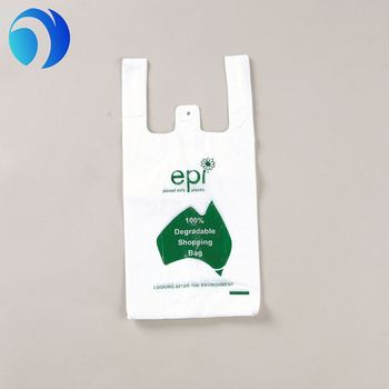 Supermarket Custom Organic Plastic T Shirt Carryout Ping Bag Product On