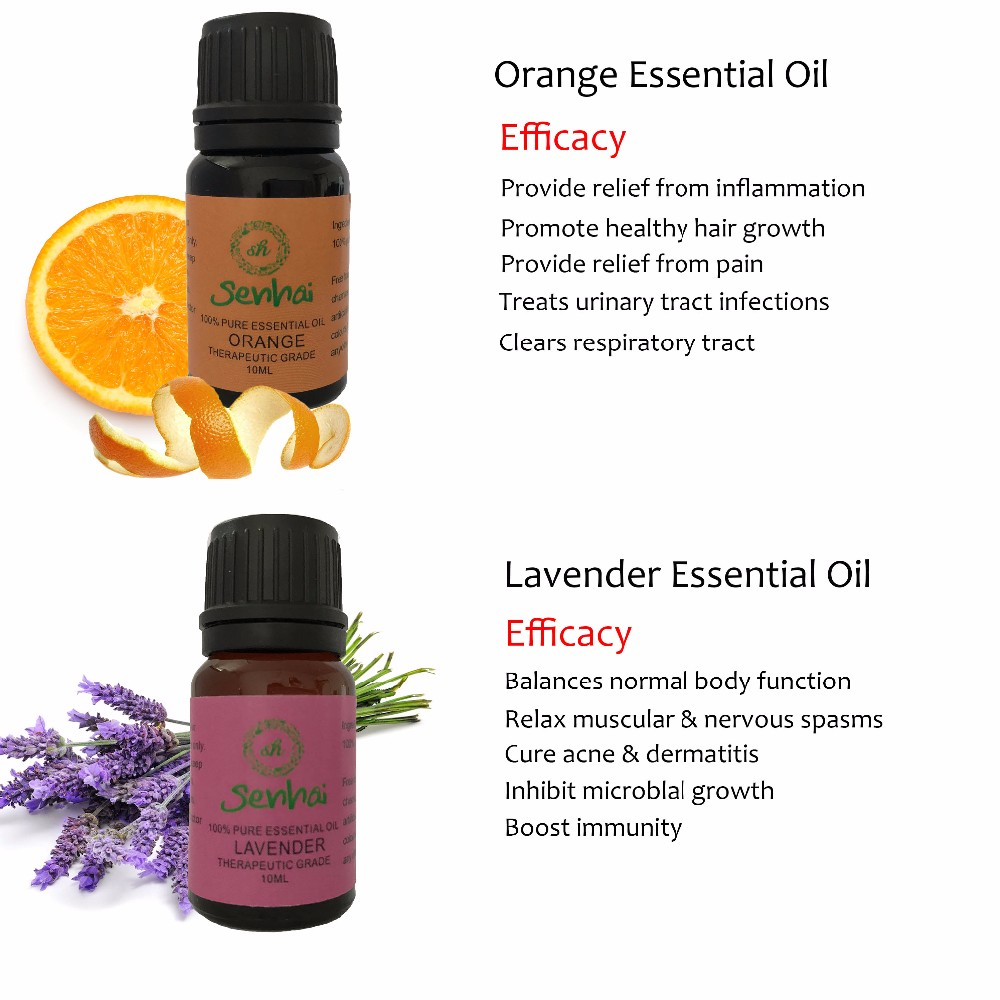 100% pure aromatherapy essential oil set