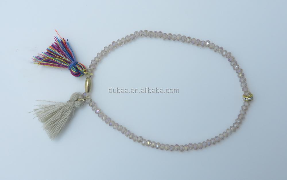 New Hot Fashion Tels Small Beads Fine Bracelet Elastic Beaded Bracelets Jewelry Crystal Gl