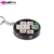 New Fashion Plastic Food Keychain Toys Simulation sushi plate model key ring Box Gift Key Chain