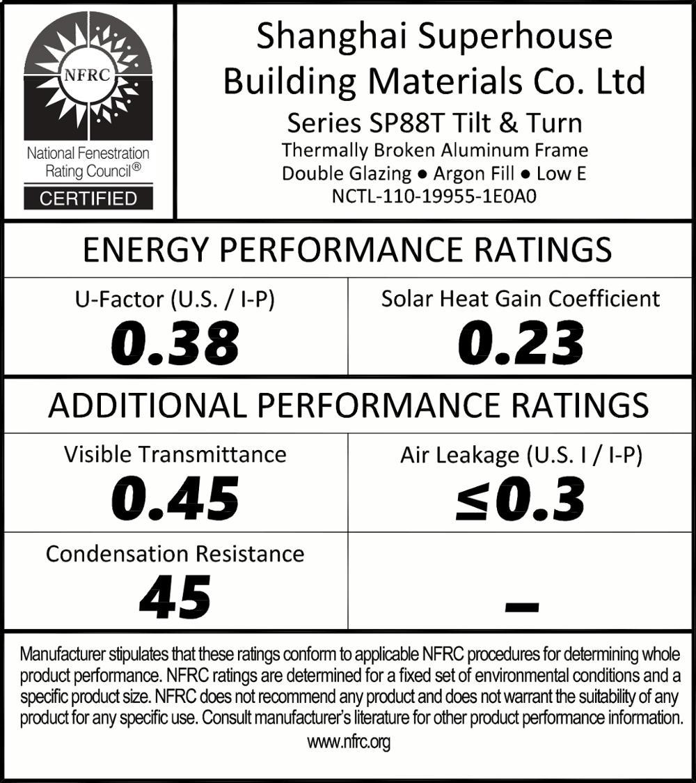As2047 2208 Csa Nfrc Standard Aluminum Glass Lowes
