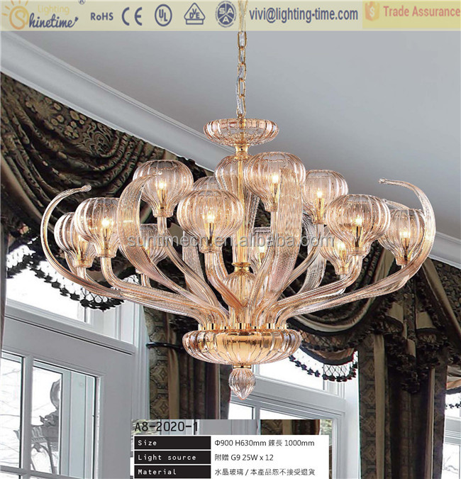European fashion contracted designer chandeliers / example room elegant glass meal lie pendent lamp