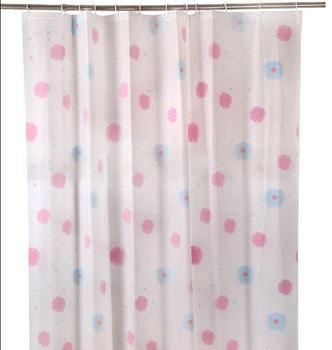 Circle Design Clic Bathroom Shower Curtain Retro Led 3 Color