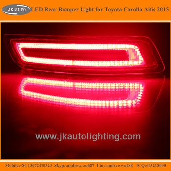 Latest Multifunctional Led Rear Bumper Lights For Toyota Corolla Altis  Super Quality Led Tail Lights For Toyota Corolla Altis - Buy Led Rear  Bumper