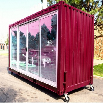 Portable Prefab house mobile container bar prefabricated transportable container foldable container storage