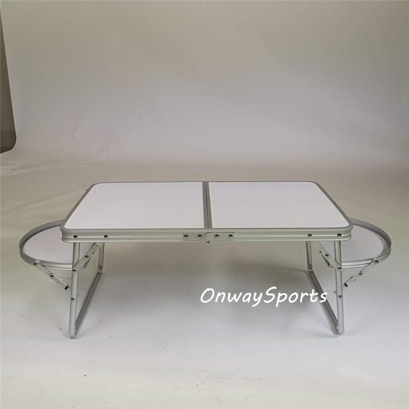 알루미늄 화이트 미니 노트북 컴퓨터 책상 작은 접이식 테이블 침대 캠핑