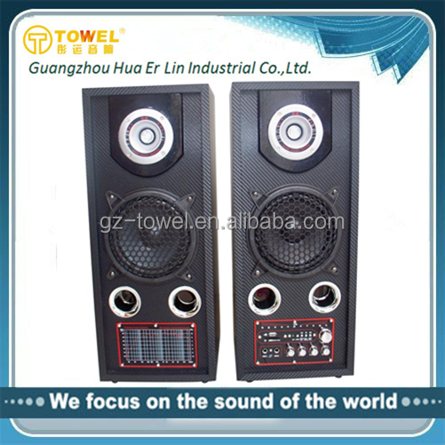 2.0 Hi-Fi speaker small audio mixer guangdong stage speaker system super bass bluetooth mp3 speaker