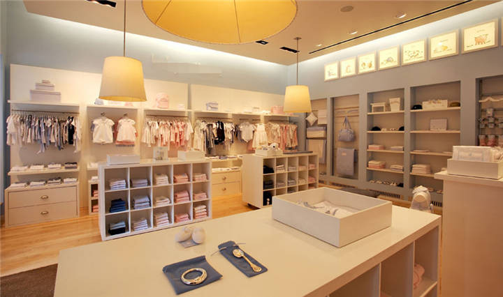 Cabinet Design For Clothes For Kids child clothing display cabinets retailers shop decoration display