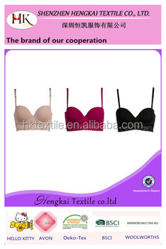 c66960f6491 Push Up Hot Sexy Girl s Underwear Padded Plus Size Lingerie Lady Longline  Bra with lace decoration