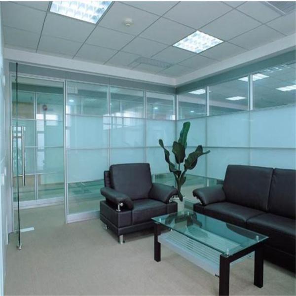 Aluminio partici n de pared tabiques de vidrio oficina - Tabique de vidrio ...