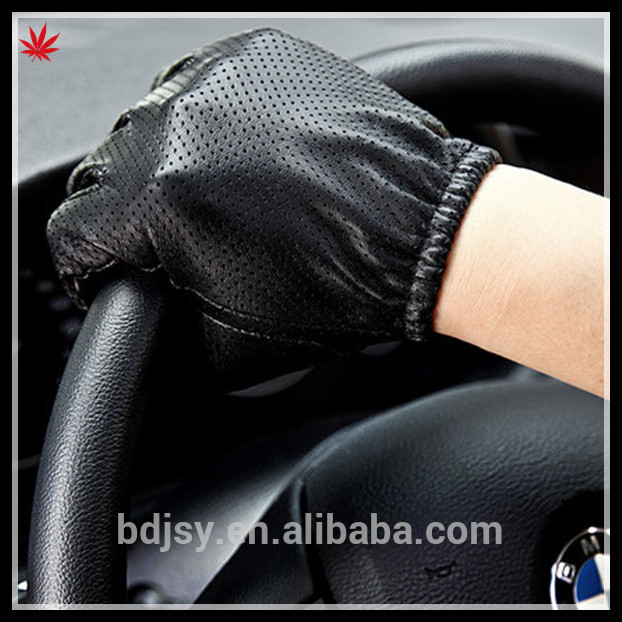 men fashion thin leather driving glove