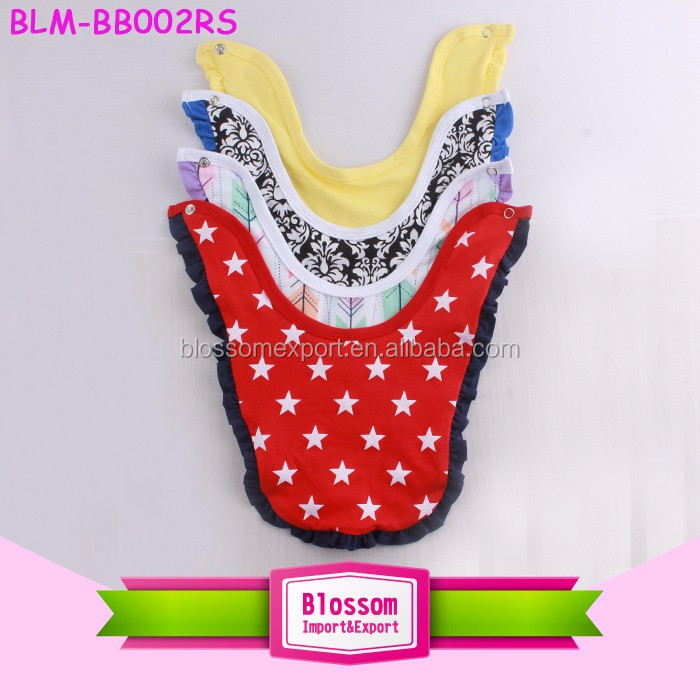 Soft cotton baby teething bib infant drool bibs print color lovely bib for baby