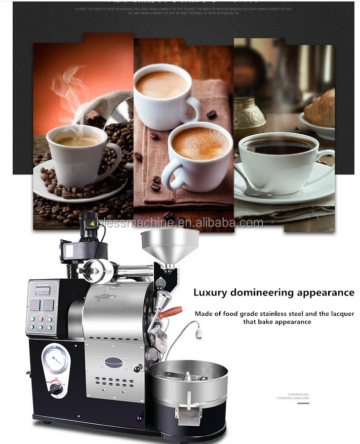Energy Conservation up to 15% Up to EU Standard used coffee roasting equipment exhibited at Canton fair