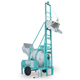 Construction machinery hydraulic lifting hopper conical drum reversing concrete mixer with pump