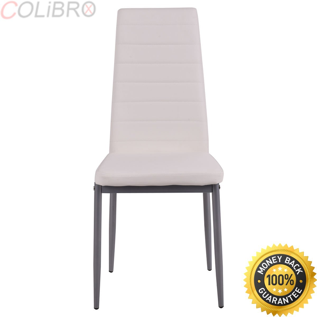 Get Quotations Colibrox Set Of 4 Pu Leather Dining Side Chairs Elegant Design Home Furniture White