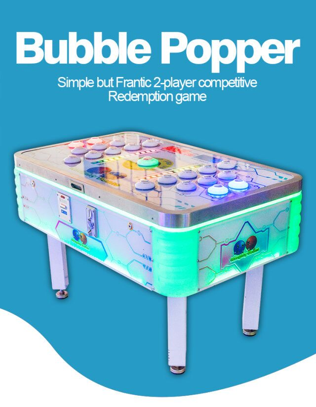 Kids indoor games equipment hit beans redemption games for shopping mall