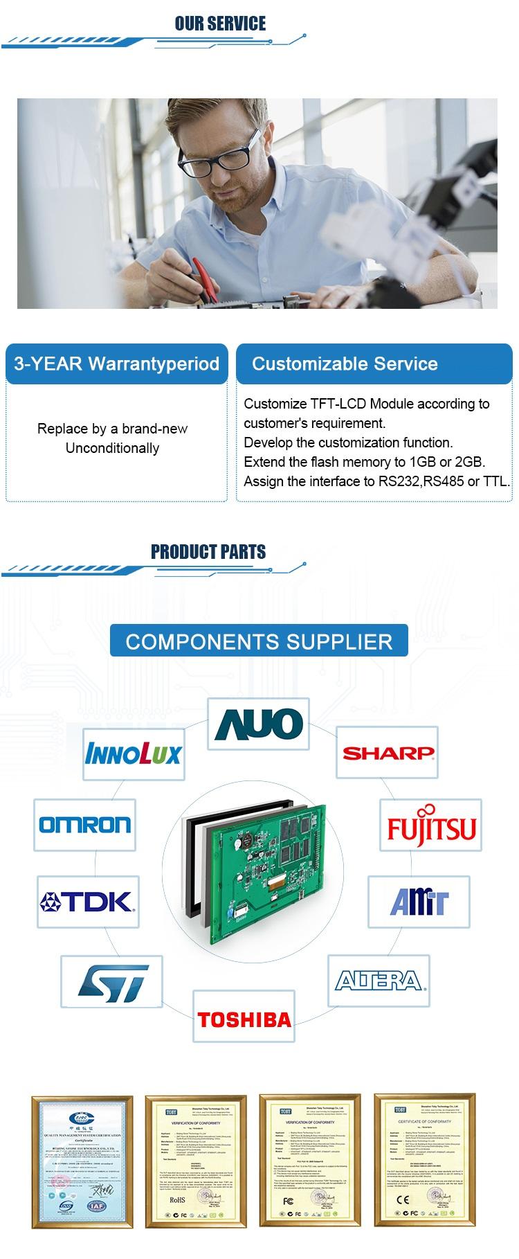 4.3 Polegada TFT Display LCD Com Tela