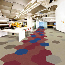 Specializes in the production of Hexagon carpet tile
