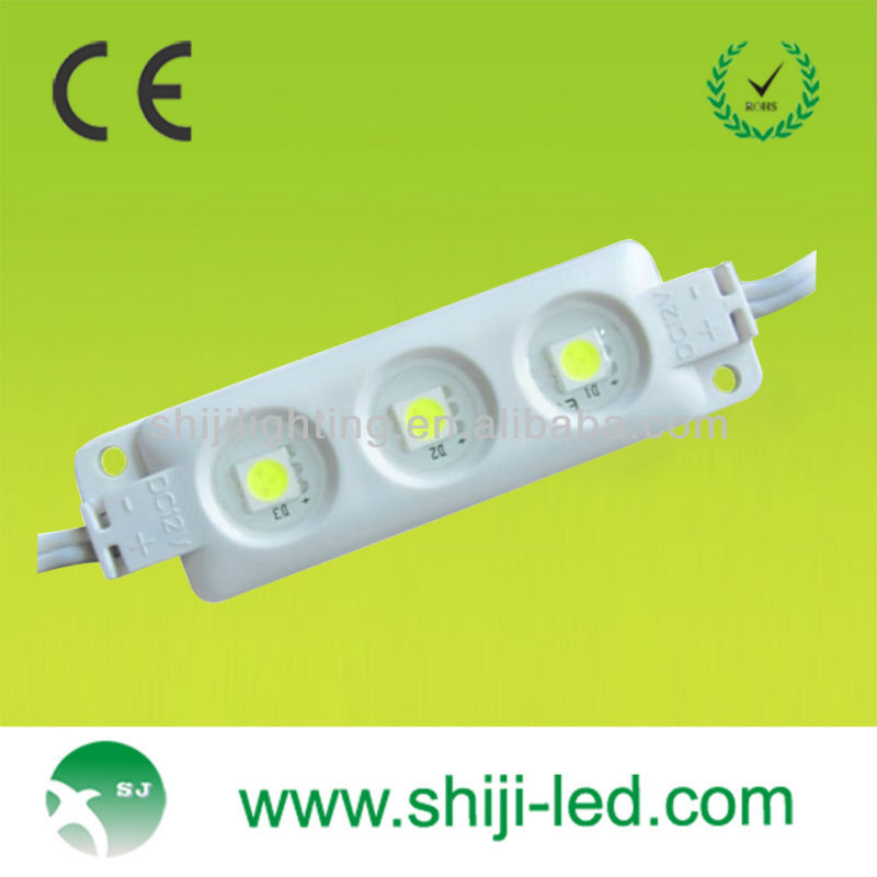Ce et RoHs 3 leds smd 5050 led module d'injection