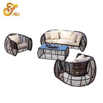 Patio leisure furniture rattan sofa hotel outdoor furniture