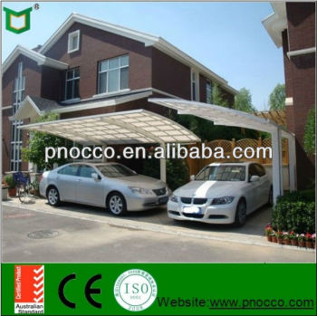 Aluminium Frame Carport With Laminated Glass Roof
