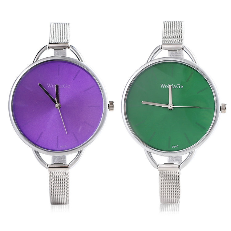 Blue/Purple/Black/Brown/Gold/Green Stylish Women's Fashion Casual Minimalist Watch Women Stainless Steel Strap Wrist Watches