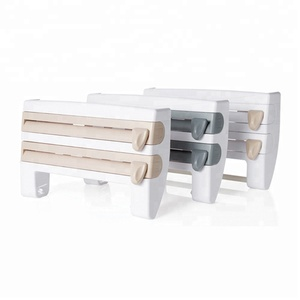 Multifunctional Wall Mounted Cling Film Sauce Bottle Storage Rack Creative Paper Towel Holder