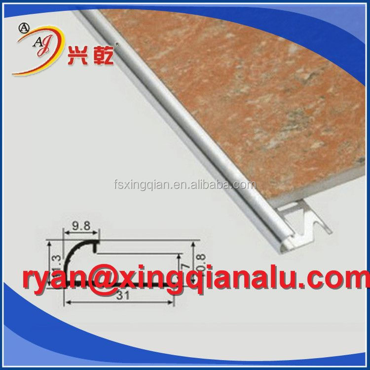 Baguette Aluminium Ceramic/Wall/floor tile trim strip,flexible marble edge Aluminium tile trim profile for Africa Market