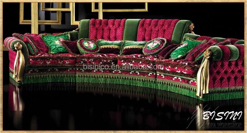English Furniture Bright Color Clic Sectional Sofa Unique Design Royal Living Room