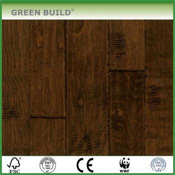 Distressed Birch Engineered Wood Flooring Dark Brown Color Buy