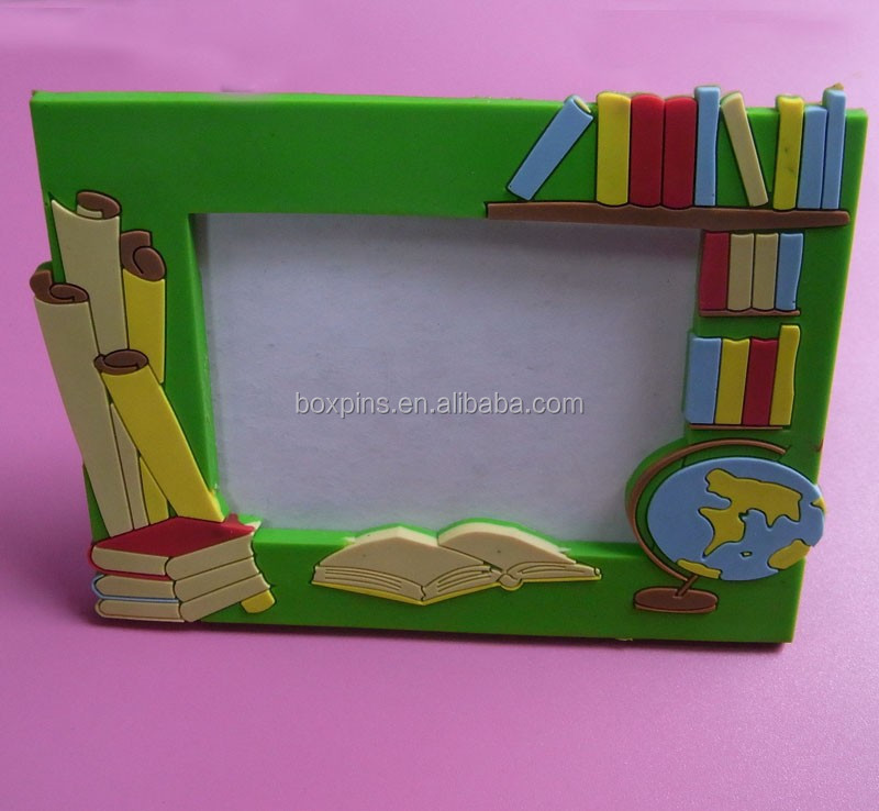 geography theme magnetic photo frame, fridge magnet photo frame