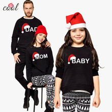 Wholesale Fashion cotton terry Knitted mommy and me clothing family matching  Christmas Sweater