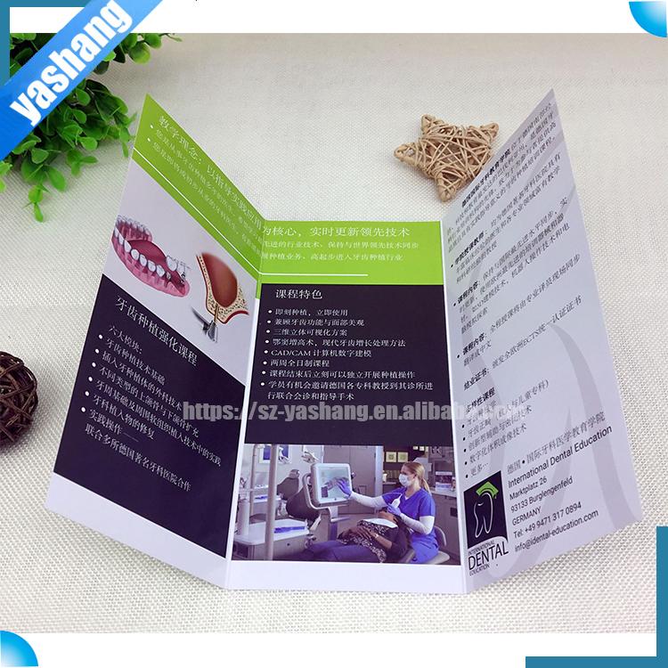 Gestanzte broschüre druckservice, glänzend laminierung a4 größe papier angepasst leuchten menü