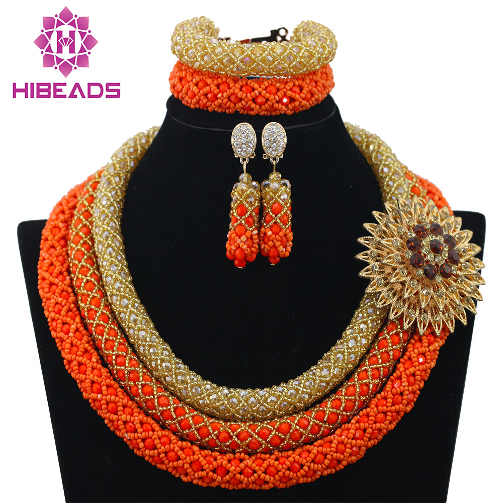 Wholesale Delicate 3 Layers Gold Coral Nigerian Wedding African ...