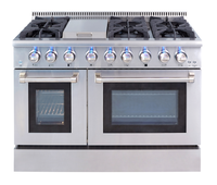48inch 6 burner gas cooking range/gas stove with oven