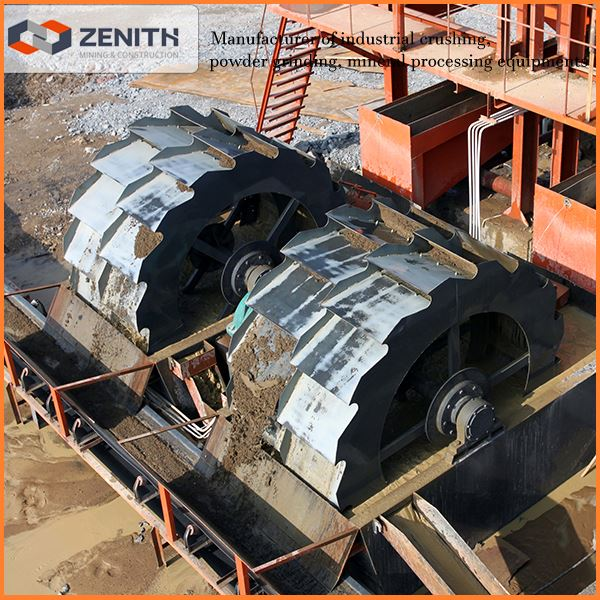 sand gravel washing plant manufacturer with low price, round bucket sand washing machine with low price