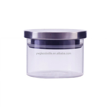 10oz Pyrex Airtight Glass Storage Jar With Stainless Steel Lid 300ml