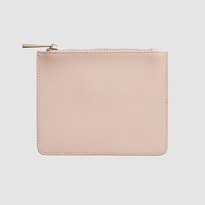 ladies pale pink mini bag saffiano genuine leather mini pouch for women