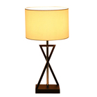 modenr European metal cross study table lamp home decor desk lamps hotel LED indoor lightings simple shape bedside lamps