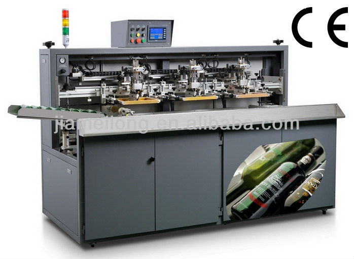 fully automatic cosmetic glass bottle silk screen printing machine