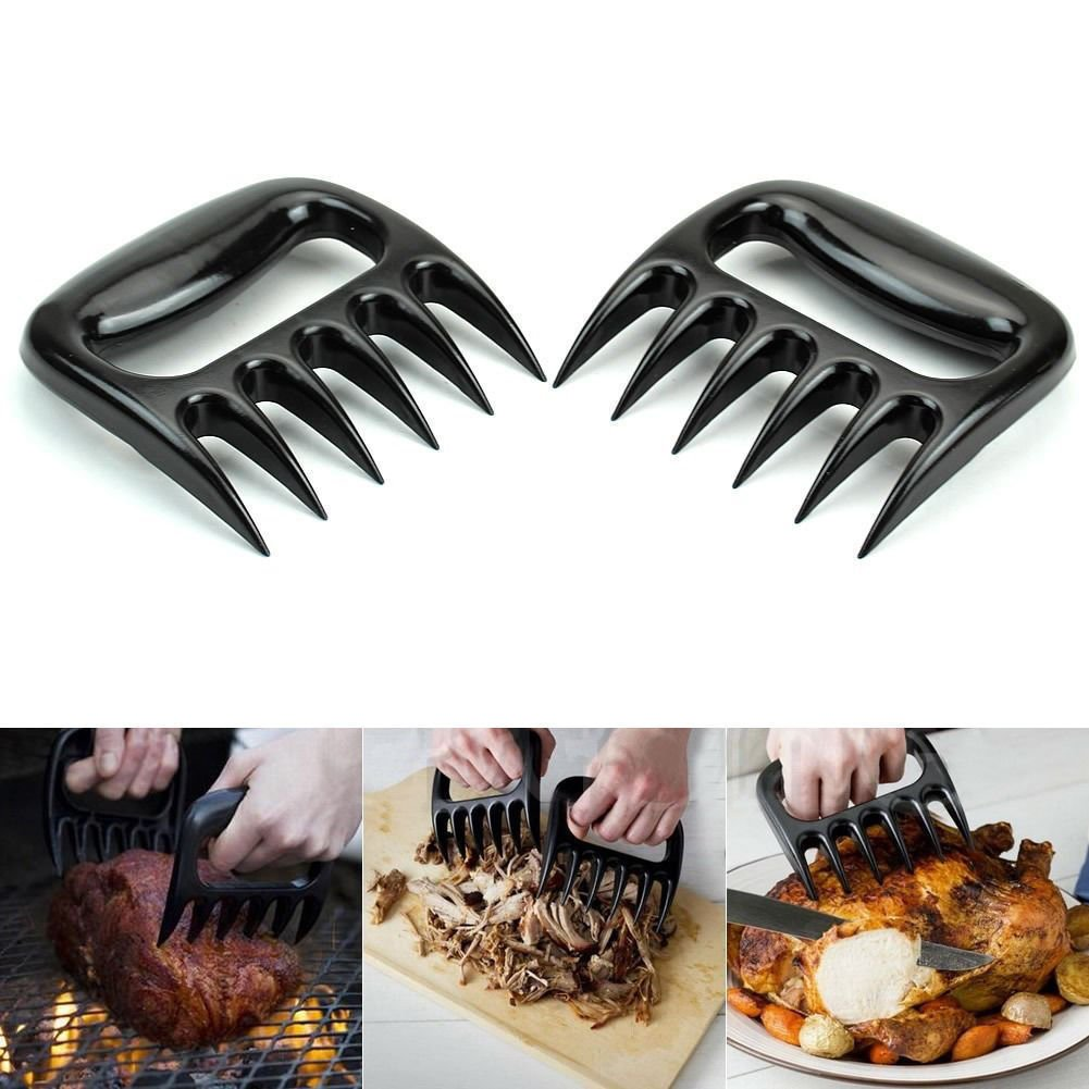 TOBAO The Original Shredder Claws -Pulled Pork Shredder Claws-Handle, Shred, and Cut Meats - Essential for BBQ Pros - BPA Free Barbecue Paws (Black)