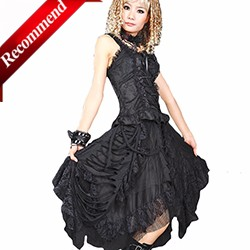 c42418dc5dc ROLECOS New Arrival Gothic Style Women Lolita Dress Plaid Shirt with ...