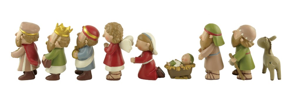High quality antique catholic religious statues resin Christmas nativity sets