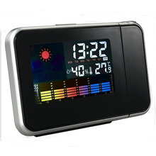 Digital Projection Dual Alarms Indoor Thermometer Alarm Clock