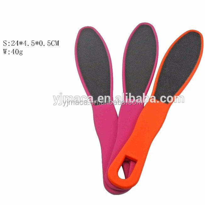 OEM Factory Pedicure Foot File With Long Handle 2 Side Foot File Rasp Corn and Callus Hard Skin Remover Pedicure Tool