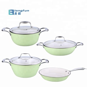 Super light Enamel 24cm Cast Iron Cookware Best Dutch Oven with Lid