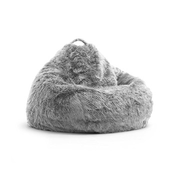 Wondrous 44 X 44 X 24 Inches Large Grey Fur Bean Bag Chair Luxury Soft Fur Elegant Living Room Beanbag Sofa Lounger Buy Cool Bean Bag Chairs Xl Bean Bag Squirreltailoven Fun Painted Chair Ideas Images Squirreltailovenorg