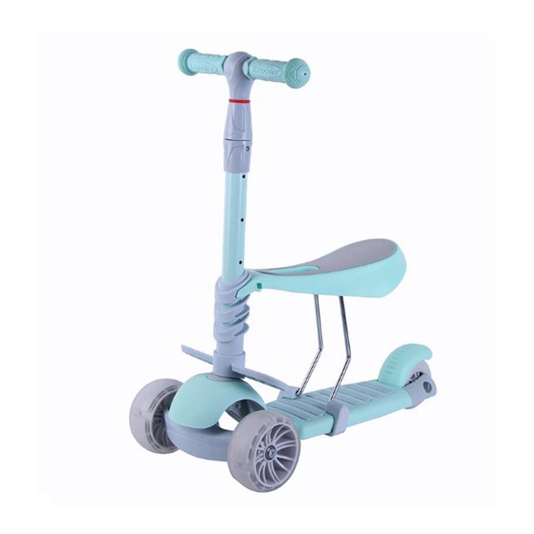 Verstellbare Roller für Kinder 3 Räder Kleinkind Mini Kick Scooter mit Sitz