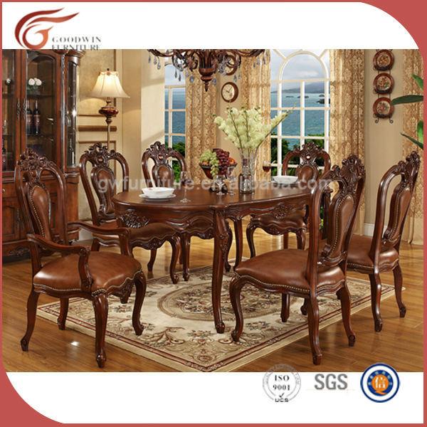 Barato 8 plazas juego de comedor de madera muebles for Muebles comedor clasicos